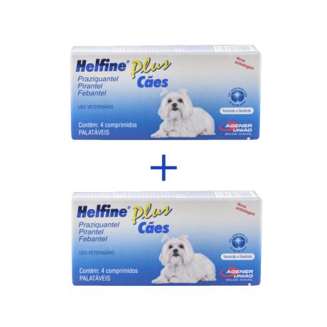Vermicida Helfine Plus cães 10 kilos - Compre 1 Leve 2  - Onda do Pet