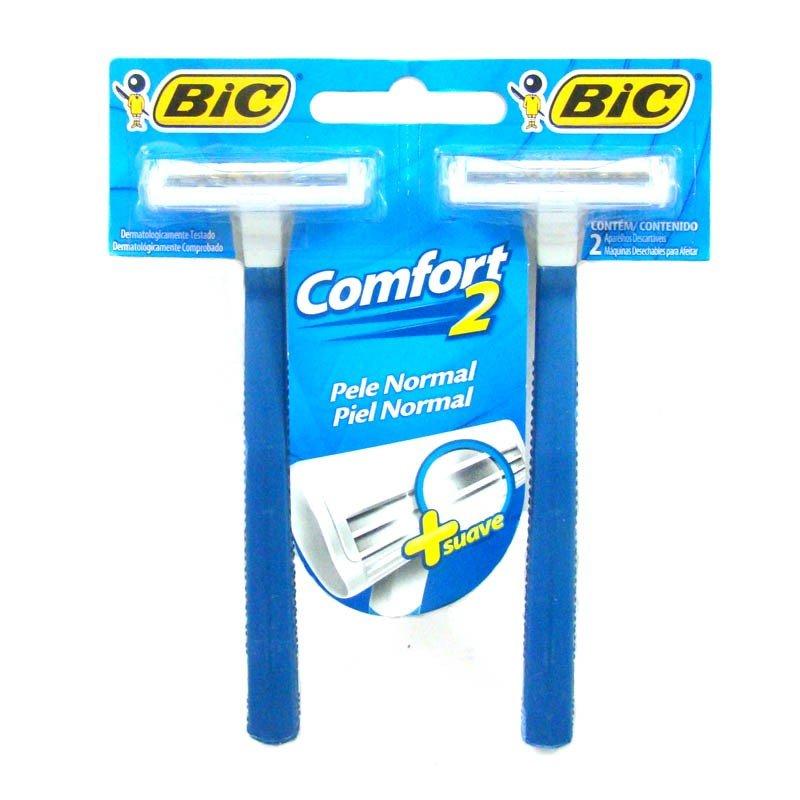 Aparelho de barbear Bic Confort 2 - Cartela com 2 Unidades