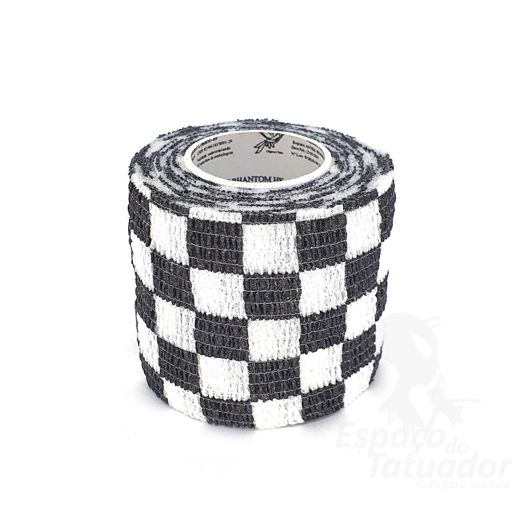 Bandagem Custom Phantom HK - 5cm x 4,5m - Black Grid
