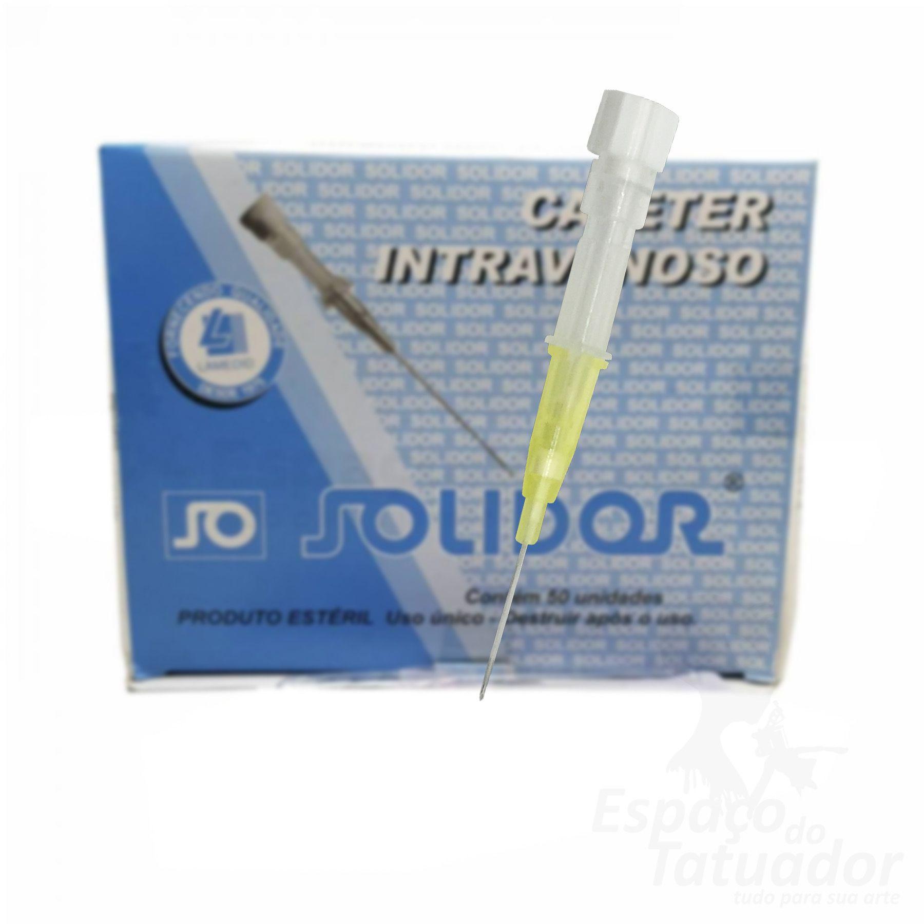 Cateter Intravenoso Solidor - 24G - Unidade