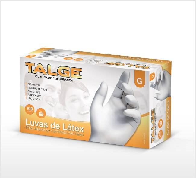 Luva Latex - Talge - 100 unidades