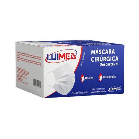 Máscara Cirúrgica Descartável Luimed - 50 Unidades
