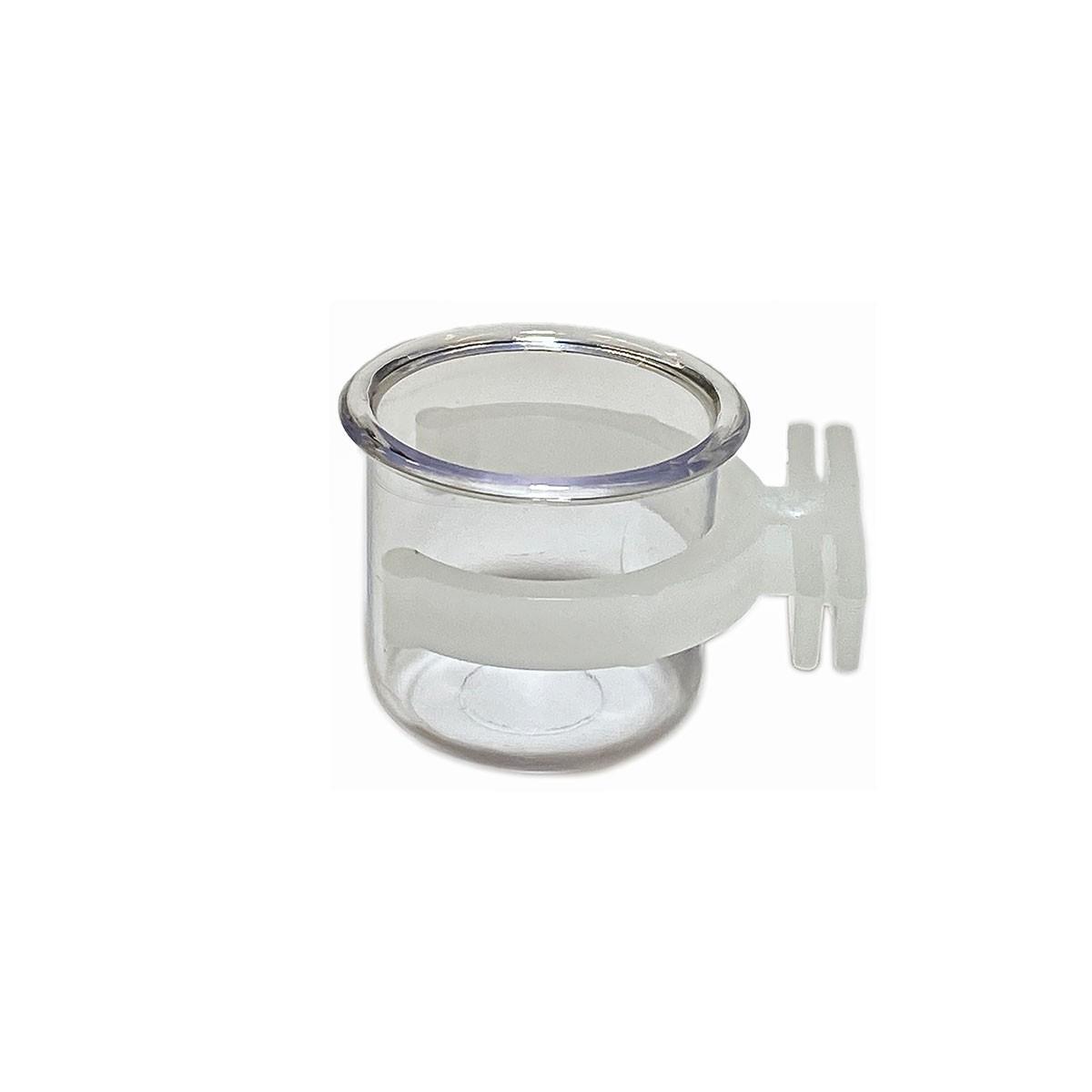 Porta Vitamina Cristal C/Presilha Medio Christino - pacote com 12 unidades