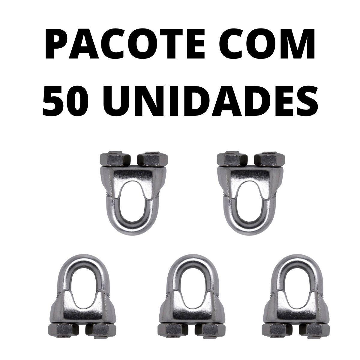CLIPS PARA CABO DE AÇO CERCA ELÉTRICA COM 50 UNIDADES