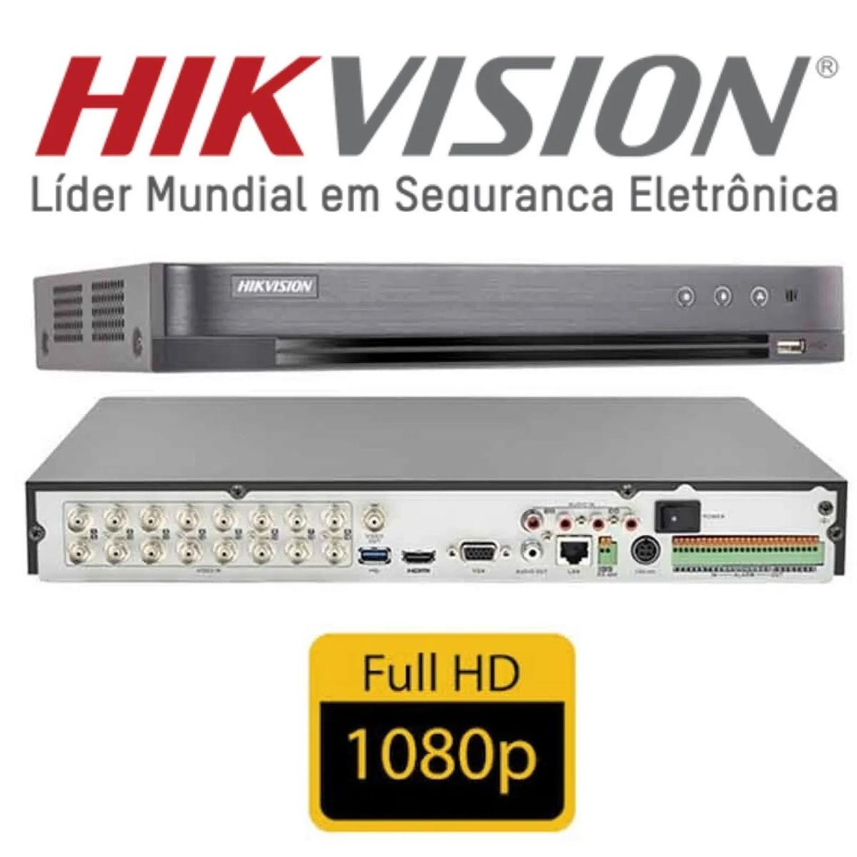 DVR STAND ALONE 2MP 16 CANAIS HIKVISION