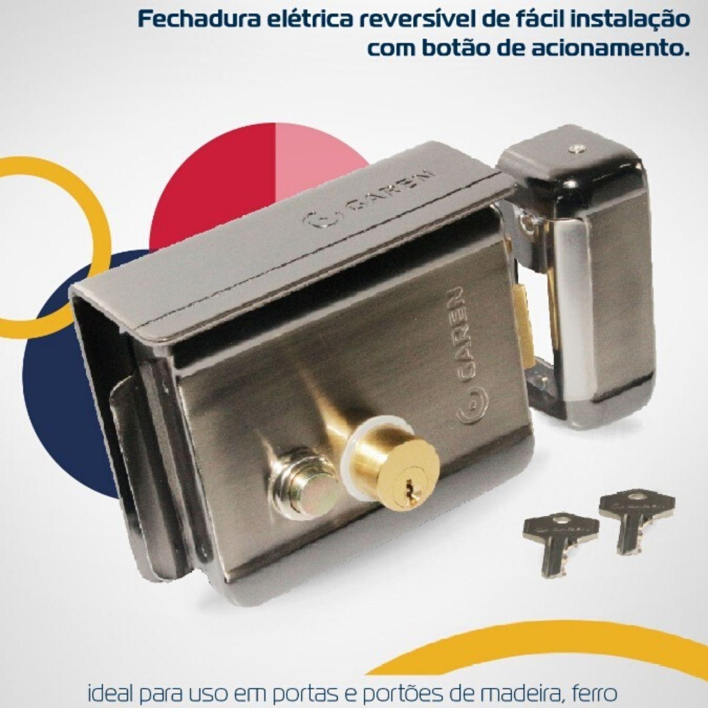 FECHADURA 12V LUXO GAREN
