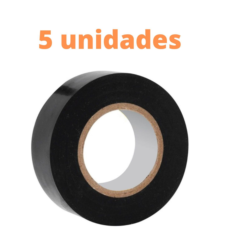 KIT 5 FITAS ISOLANTES PVC ANTI-CHAMAS com 20m