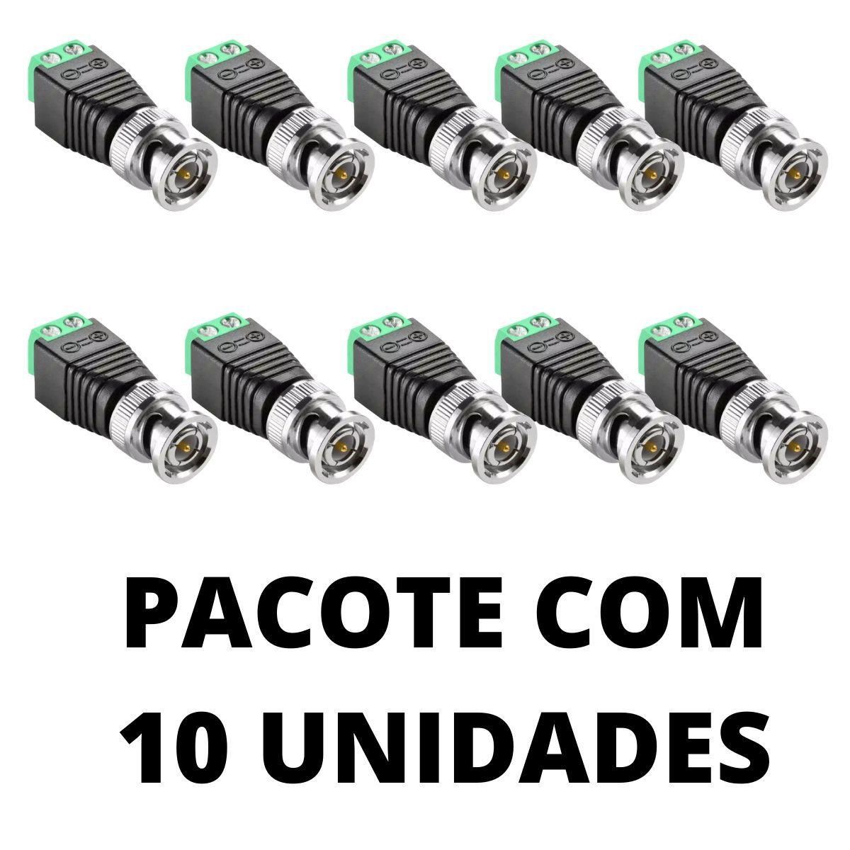 KIT CONECTOR BNC COM BORNE 10 UNIDADES