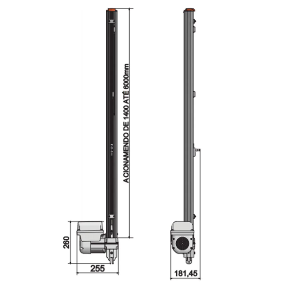 MOTOR BASCULANTE GAREN DUO 1/3 110V F06162-GCT + 2 METROS DE CALHA