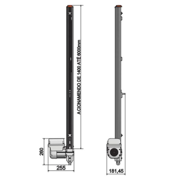 MOTOR BASCULANTE GAREN DUO 1/3 220V F06163-GCT + 1,40 METROS DE CALHA