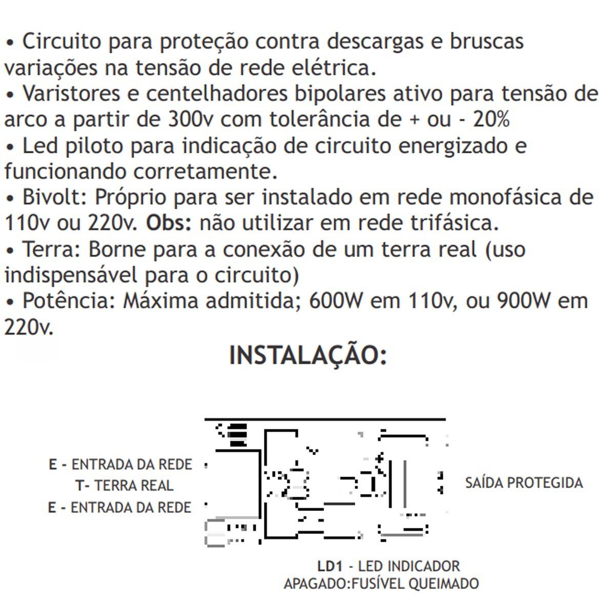 PROTETOR DE REDE ELETRICA IPEC BIVOLT A2700