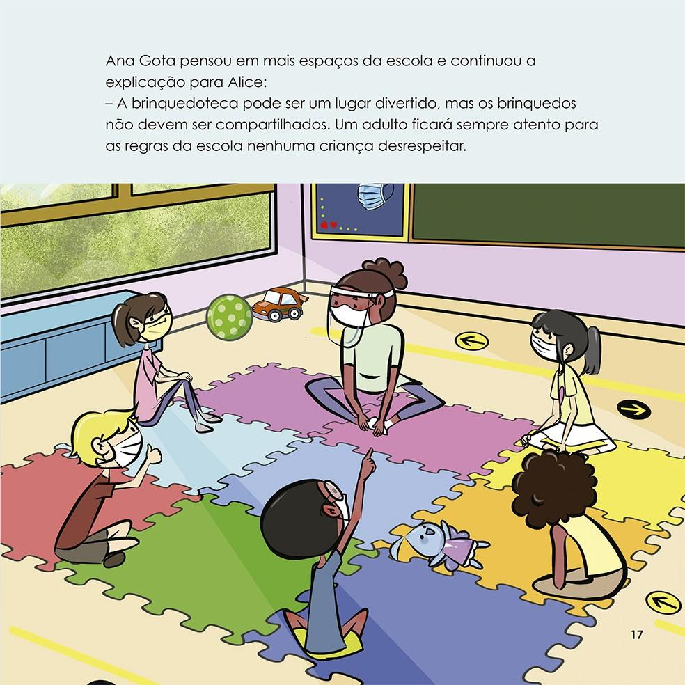 Alice e Ana Gota volta às aulas