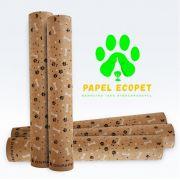 Kit Com 3 Unidades Ecopet Ecológico Jornal Para Cães e Gatos Bobina Com 60 cm de largura (40 metros de folha)
