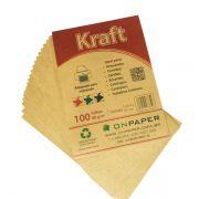 Papel Kraft A4 80G Monolúcido com 200 folhas