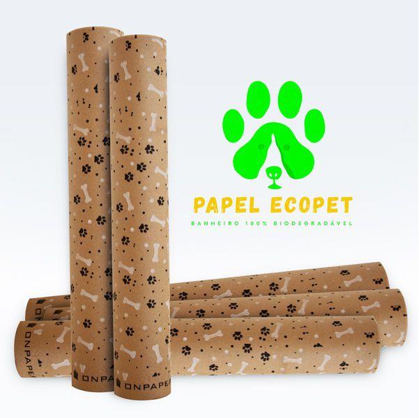 Kit Com 4 Unidades Ecopet Ecológico Jornal Para Cães e Gatos Bobina Com 60 cm de largura (40 metros de folha)  - Loja Onpaper