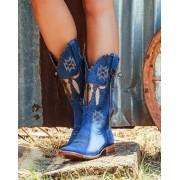 Bota Feminina Goyazes Longhorn Azul