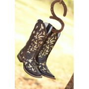 Bota Goyazes Fem Dallas Tabaco/ Glitter Dourado 3225-CC