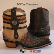 PRÉ-VENDA: Bota Cherokee Preta com Turquesa