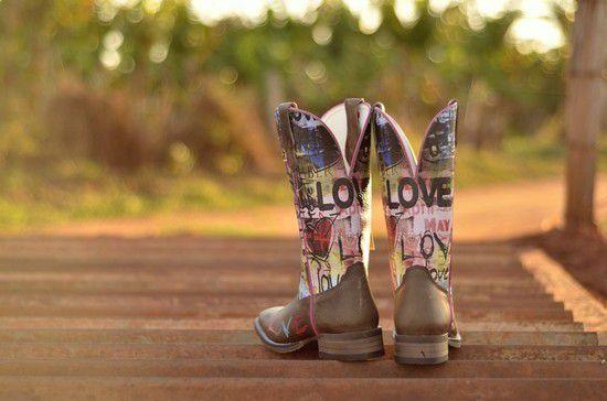 Bota Goyazes Fem Dallas Tabaco Love 173201-CF