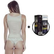 Kit Corselet 2 Níveis de Regulagem Chocolate Gel Redutor