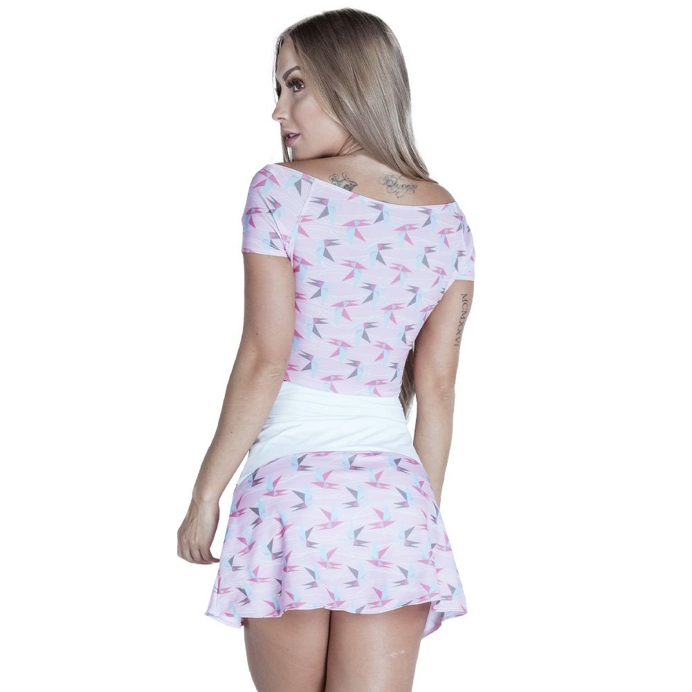 Blusa Cropped Rose Charm