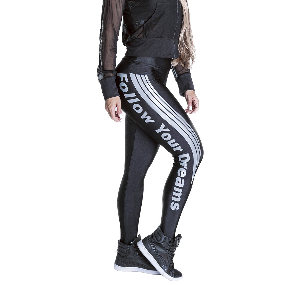 CALÇA LEGGING FOLLOW YOUR DREAMS
