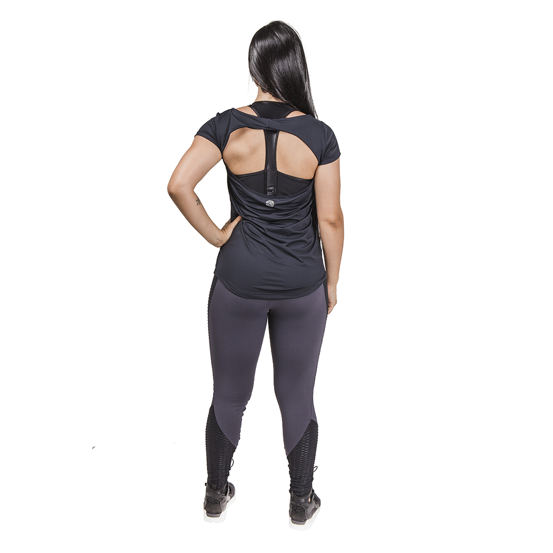 Legging Fitness Graphite - Cinza