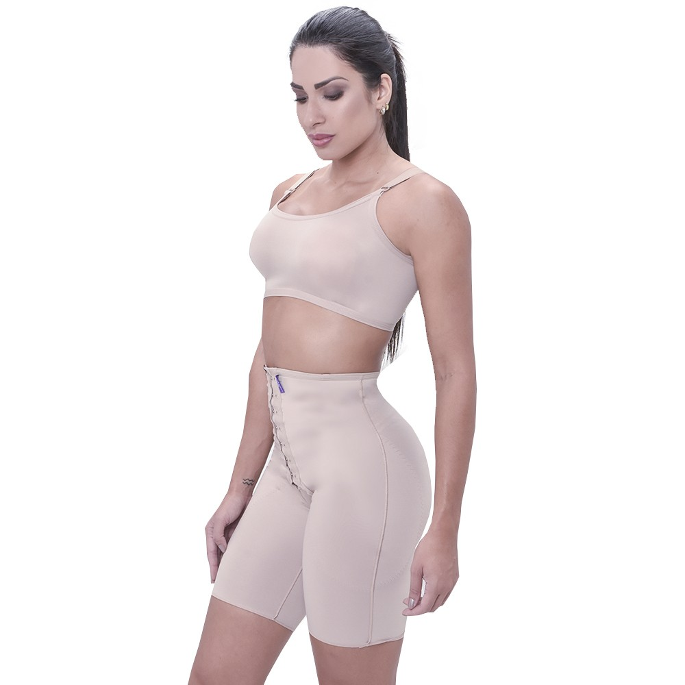 Modelador Short Cintura Media e Fecho Frontal