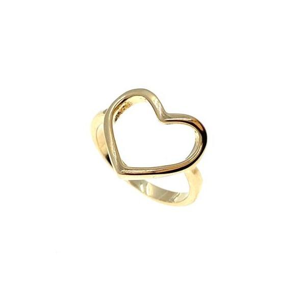Anel Heart, folheado em ouro 18K