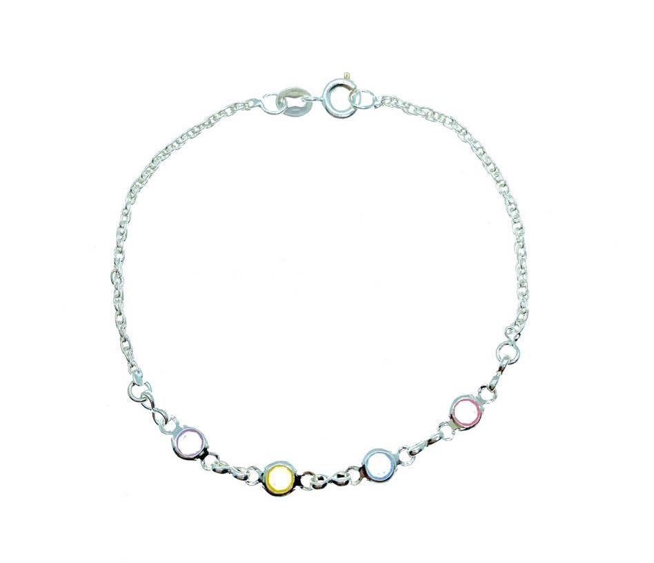 Pulseira Soft Colors, folheado em prata.