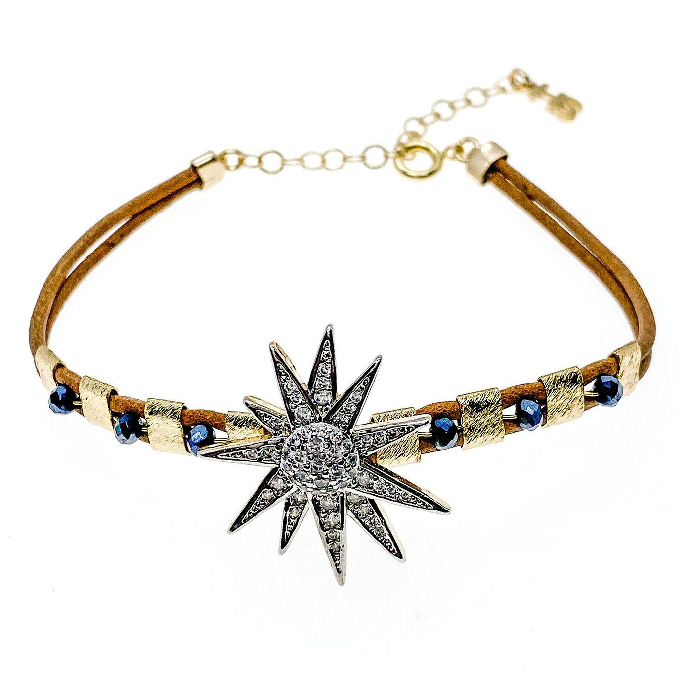 Pulseira Star, folheado no ouro 18k