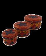 Jogo de Caixas Decoradas | Arte Indígena | Urucureá M3