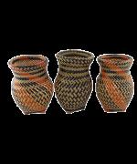 Trio de Vasos Decorativos | Arte Indígena | Baniwa M1