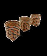 Trio de Vasos Decorativos  | Arte Indígena | Baniwa M3