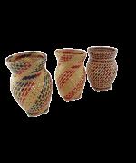 Trio Vasos Decorativos   Arte Indígena   Baniwa M2