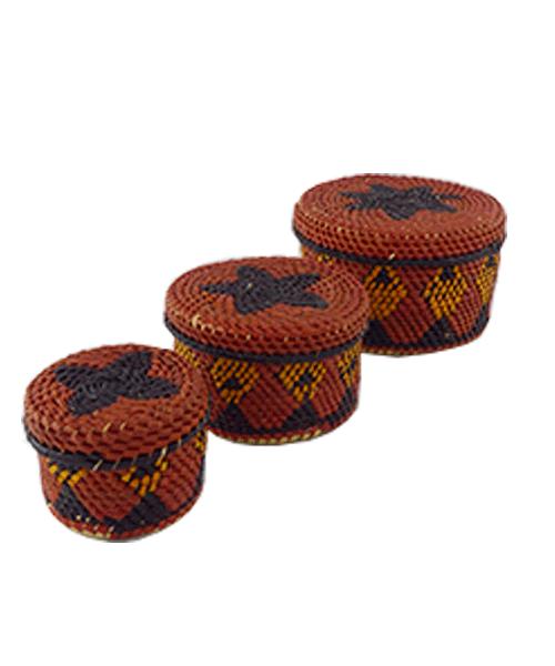 Jogo de Caixas Decoradas | Arte Indígena | Urucureá M3  - KAUAR