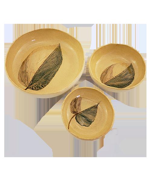 Jogo de Petisqueiras Flora Amazônica    Cerâmica  - KAUAR