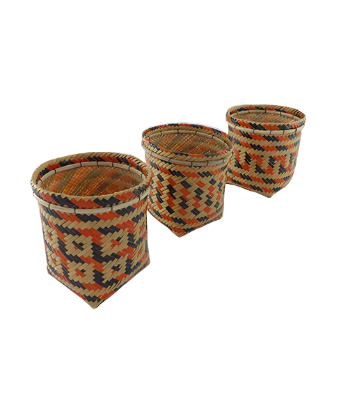 Trio de Vasos Decorativos  | Arte Indígena | Baniwa M3  - KAUAR