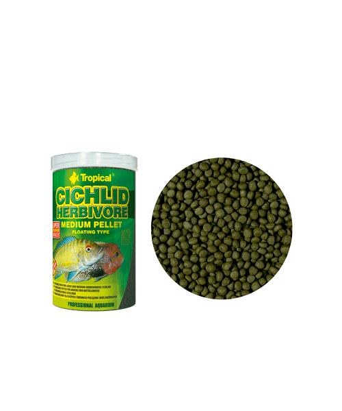 Tropical Cichlid Herbivore Medium Pellet | Ração para Peixes  - KAUAR