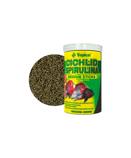 Tropical Cichlid Spirulina Medium Sticks | Ração para Peixes   - KAUAR