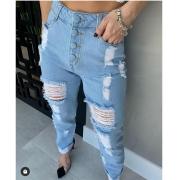 Calça jeans rasgada