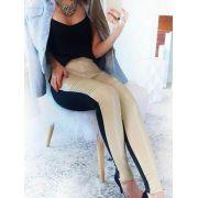Calça legging em couro sintético