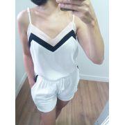 Conjunto feminino shorts e blusa