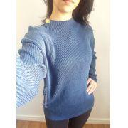 Suéter em tricô botões