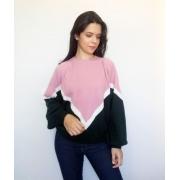 Suéter tricô gigante