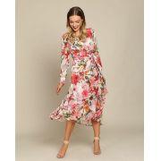 Vestido midi estampa floral