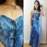 Vestido jeans longo