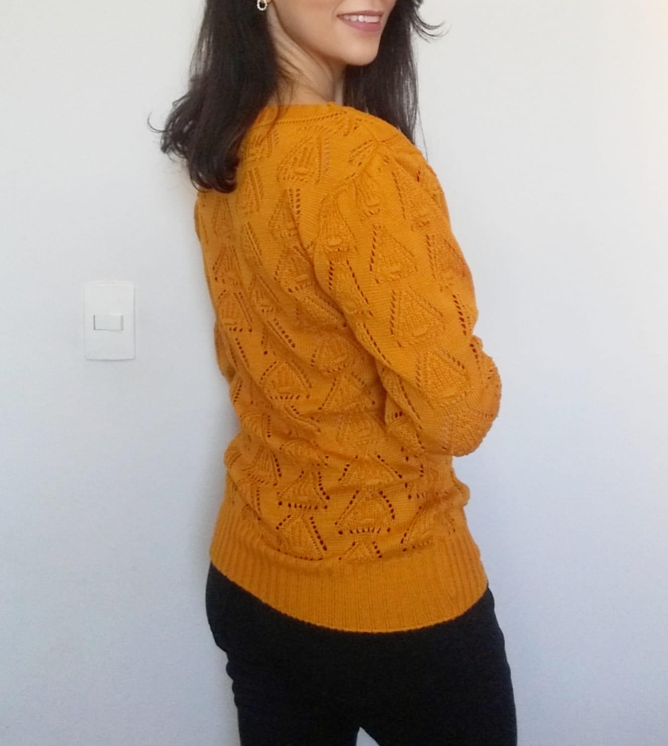 Blusa tricot manga longa