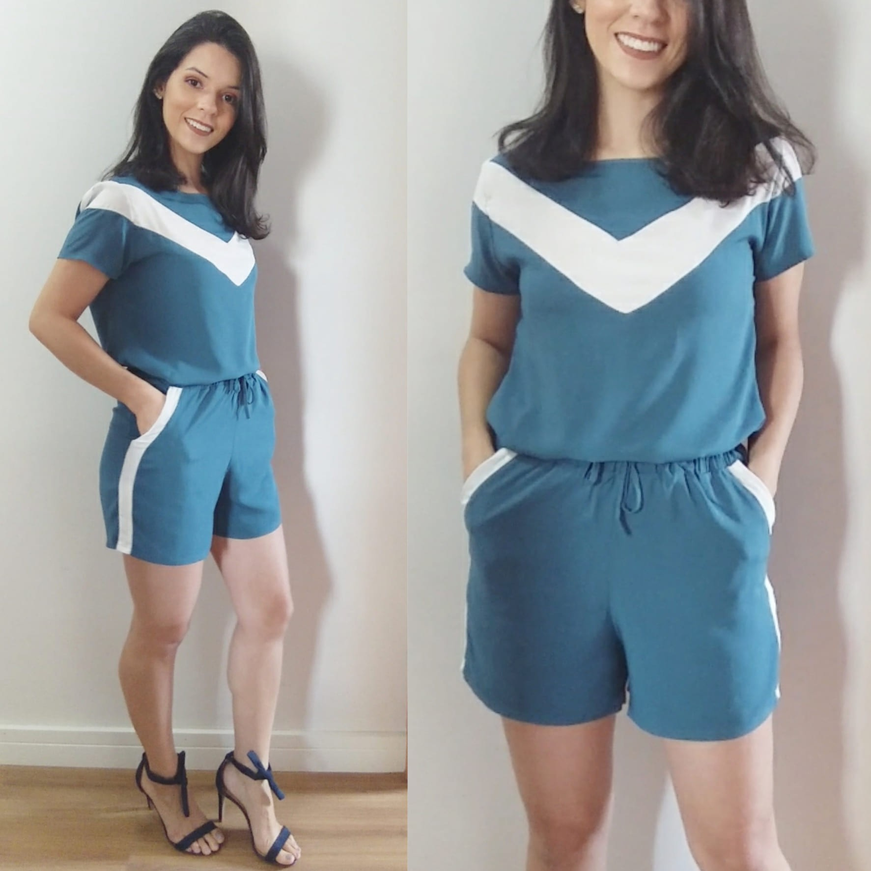 Conjunto shorts e camiseta viscose