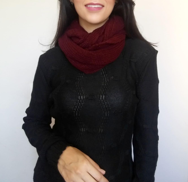 Gola em tricot